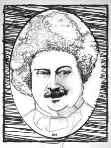 Alexandre Dumas (iustración de Matías Noel)