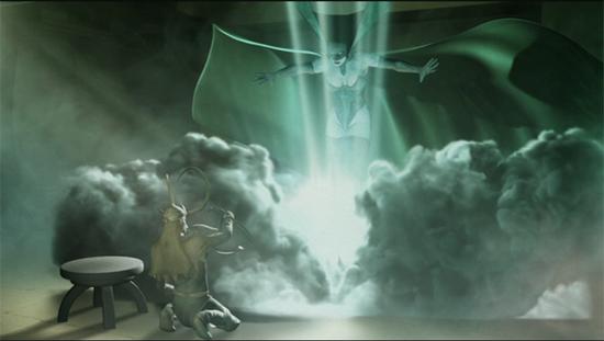 Interior del cómic donde se ve a Loki y Hela