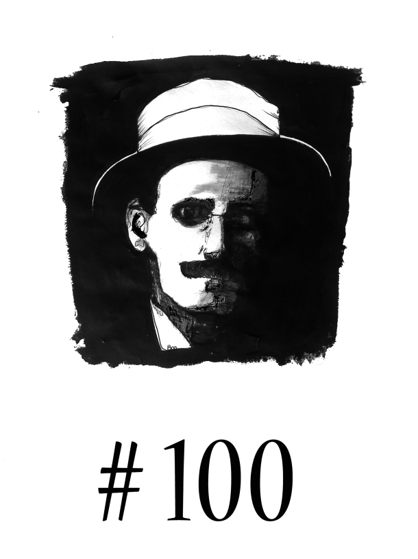 James Joyce retratado por Matías Noel