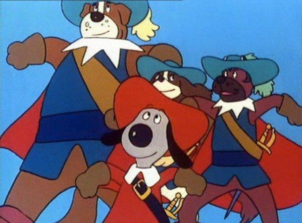 Fotograma de la serie de animación D'Artacán y los tres mosqueperros