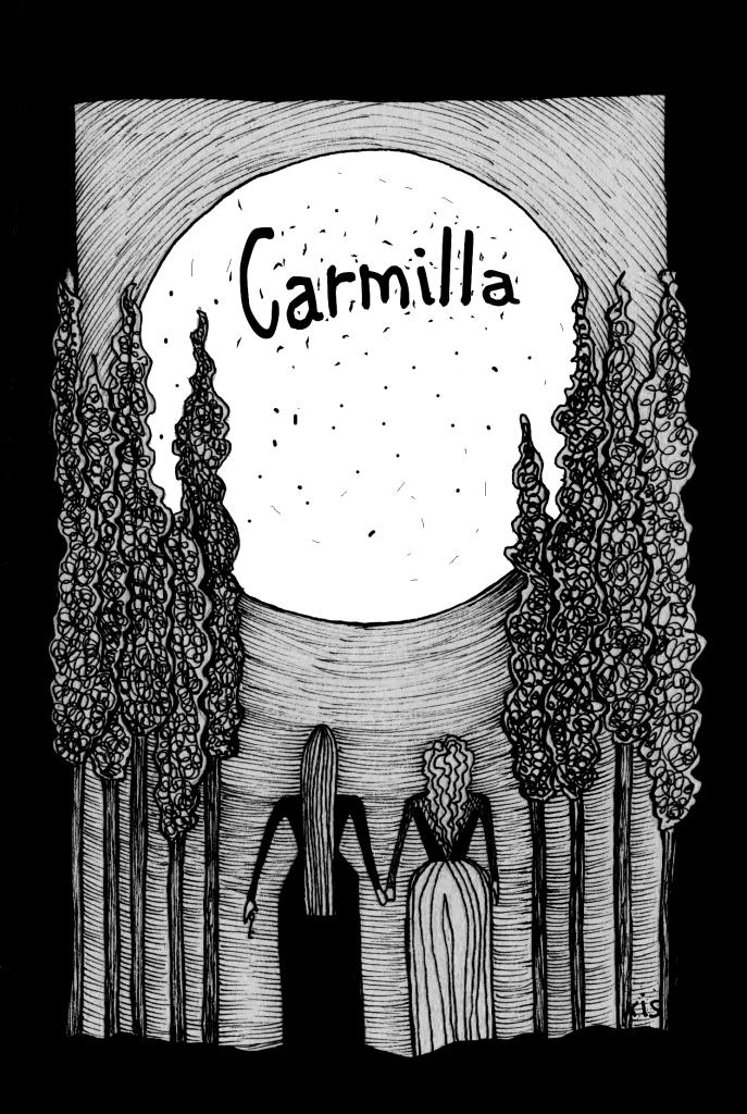 Ilustración de Carmilla, de Francisca Aleñar