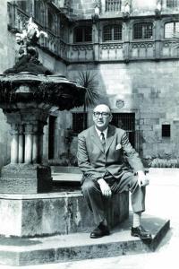 El escritor Álvaro Cunqueiro