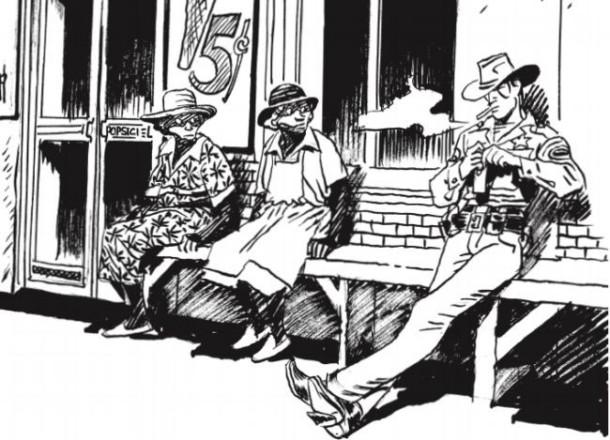 Ilustración de Jordi Bernet en la edición de la novela que hizo Libros del Zorro Rojo