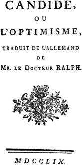 Portada de una edición de 1759 de 'Cándido o el optimismo'