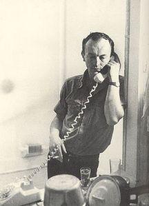 Frank O'Hara en una foto de 1965 de Mario Schifano