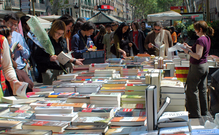 Sant Jordi en Barcelona. Fuente: Wikipedia