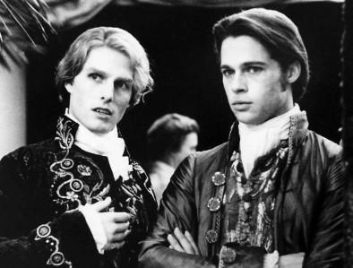 Lestat y Louise, encarnados por Tom Cruise y Brad Pitt. Fotograma de la película.