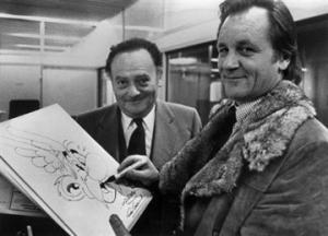 Los autores de Astérix y Obélix, René Gosciny (izq) y Albert Uderzo