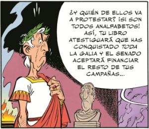 Viñeta del nuevo número, 'El Papiro del César'