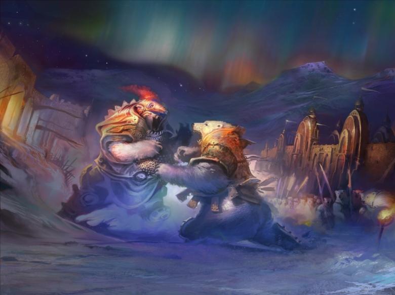Pelea entre osos acorazados. Fuente: http://alisondonato.blogspot.com.es