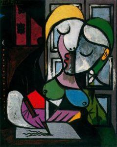 Picasso_Mujer_escribiendo_1934