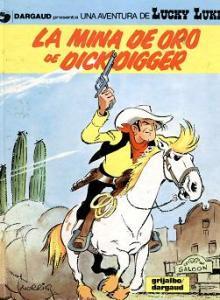 El primer álbum de Lucky Luke, en el que se puede comprobar el estilo original