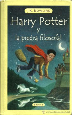 Primera edición en español de Harry Potter, antes de que comprara los derechos Salamandra
